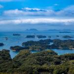 長崎有数の絶景スポット展海峰から九十九島を眺める。