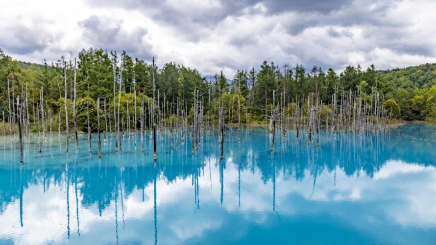 美瑛・青い池は曇りの日のほうが映える?