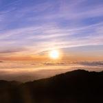 長野県美ヶ原高原で雲海と日の出を見る。アクセス、写真撮影時の注意点など。